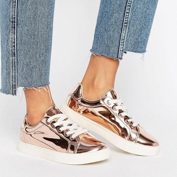 ce343d31a901 ASOS Shoes - ASOS Metallic Sneakers